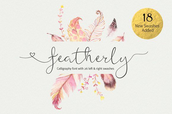 featherly font wedding font by Joanne Marie on @creativemarket