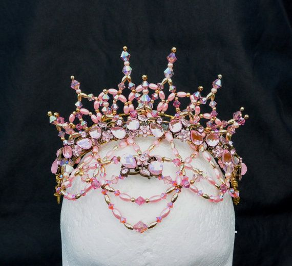 Aurora, Professional Ballet Headpiece Crystal & bead by AssembleDesigns, $165.00