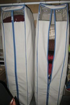 Use a Garment Bag for Pillow Storage : keeps them organized and dust free... so…