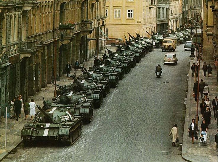August 1968 in Prague, Czech Republic - Czech Republic attack Warsaw Pact - Russian troops in the occupied Prague