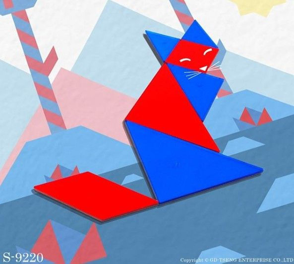 s9220 4 color oh tangram  tangram math toys geometric