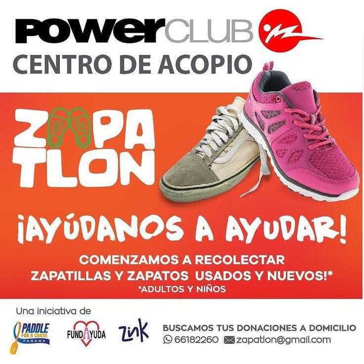 Ayudar a otros es como ayudarte a ti mismo  apoyanos #Zapatlon recolectando zapatillas y zapatos usados para donar en @powerclubpanama !