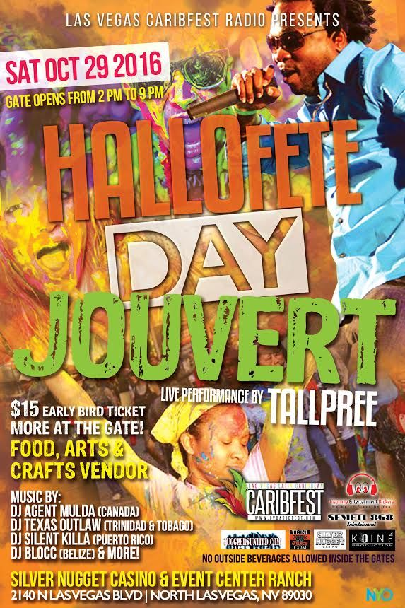 HalloFete Day Jouvert 29th – Latin Caribbean Carnival Weekend Experience in Las Vegas 28th-30th
