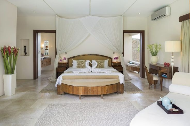 ROMANTIC Bedroom by Canela Bali.  Romantic wooden bed, meridian and nightstand.  Get your own on https://www.canelabali.com/canelabalibedroom