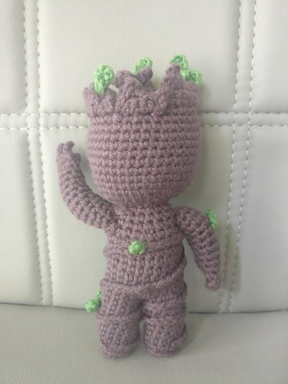 I love this crocheted amigurumi Baby Groot doll! I love Mavel's ... | 760x570