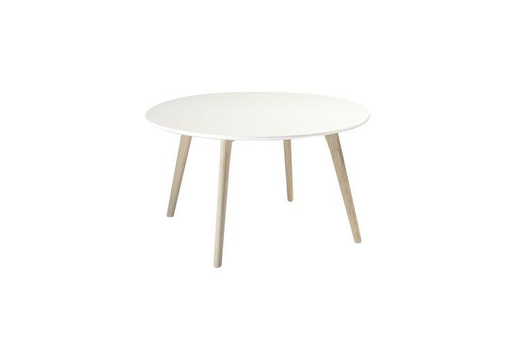 Life Sohvapöytä 80x45 Valkoinen/Tammi