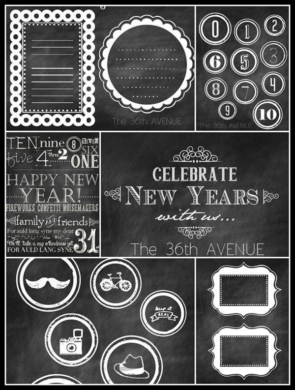 De Ano Novo livre partido da véspera Printables por the36thavenue.com Tão divertido!