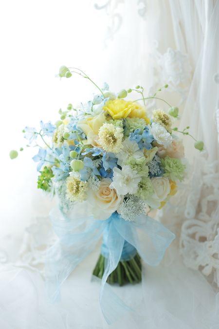 シェアブーケ 東京會舘様へ 水色と黄色で : 一会 ウエディングの花