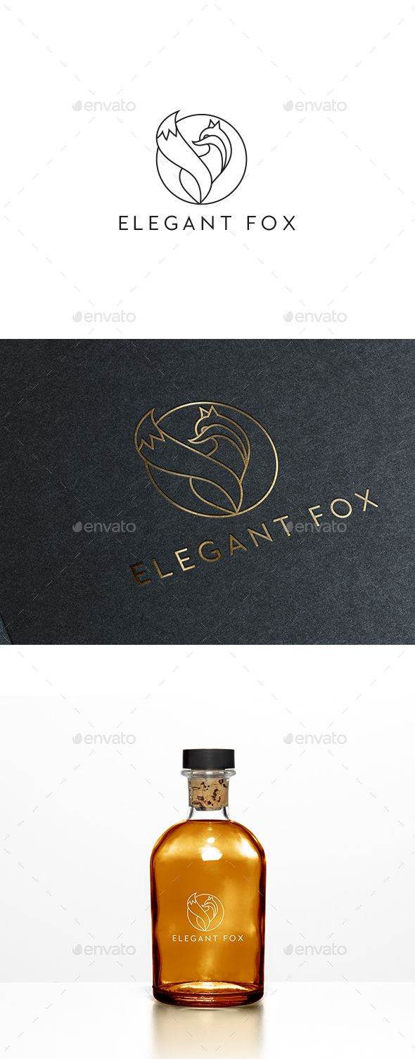 Elegant Fox Logo Template Vector EPS, AI Illustrator. Download here: https://graphicriver.net/item/elegant-fox-logo-template/17494182?ref=ksioks