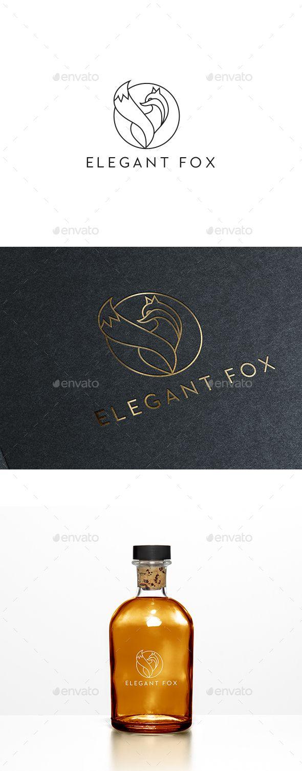 Elegant Fox Logo Template Vector EPS, AI Illustrator. Download here: https://graphicriver.net/item/elegant-fox-logo-template/17494182?ref=ksioks