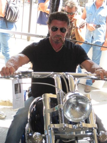 Sylvester Stallone**on a motorcycle**does it get any better than this?!?