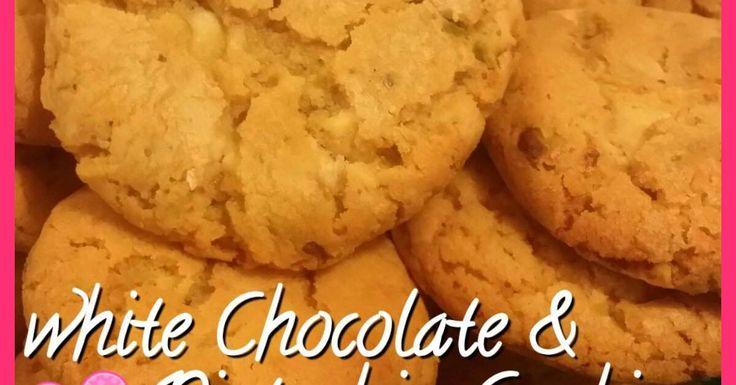 white chocolate & pistachio cookies