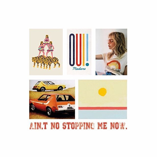 Ain't no stopping me now! Hope you feel the same way today. Just say OUi! ❤️ #moodboard #seventies #dreams #sassygogo #graphicdesign #designer #designerlife #mood  #typography #style #studio #aintnostoppingme #cars
