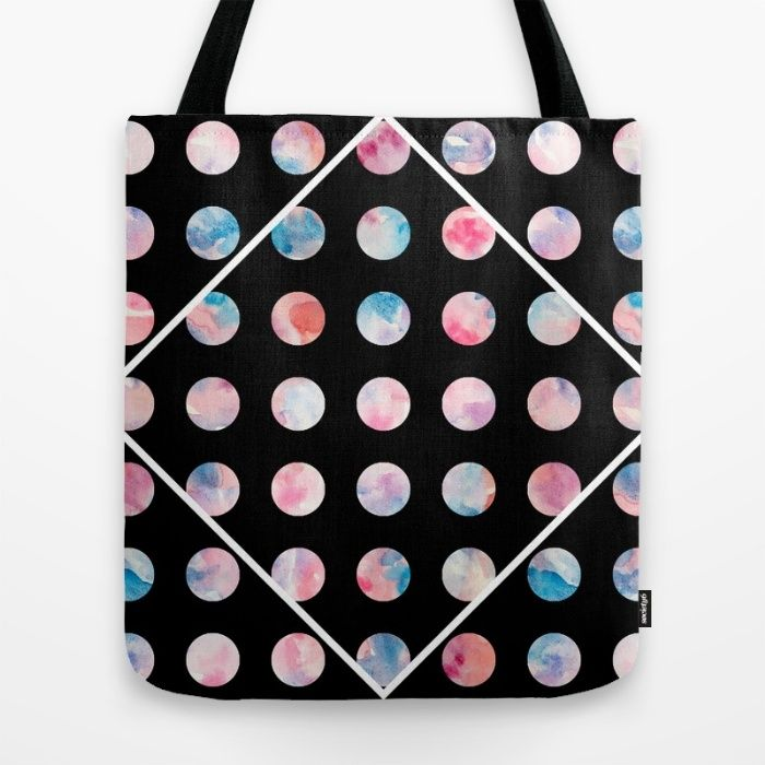 Watercolor Spots Tote Bag by The Willow Wood Studio | Society6