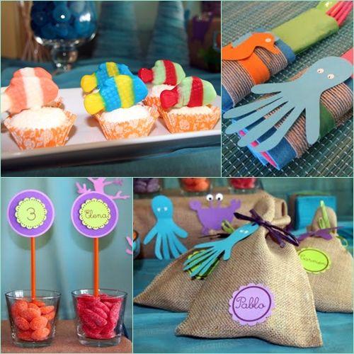 snacks....fiesta infantil mar 2 Cumpleaños de Elena Bajo el Mar