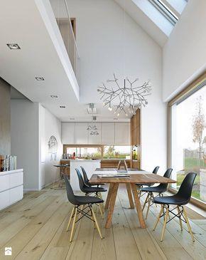 Jadalnia styl Skandynawski - zdjęcie od DOMY Z WIZJĄ - nowoczesne projekty domów - Jadalnia - Styl Skandynawski - DOMY Z WIZJĄ - nowoczesne projekty domów