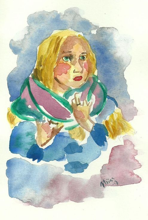 Buy Girl and a Scarf, Watercolour by Niina Niskanen on Artfinder. Discover thousands of other original paintings, prints, sculptures and photography from independent artists.