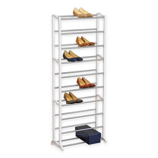 Product Image for 30 Pair White Shoe Rack 1 out of 3