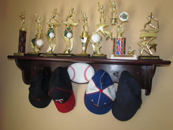 25 best ideas about baseball hat racks on pinterest for Baseball hat storage ideas