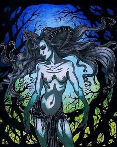 Semi Nude Demon Grendel's Mother Gothic Fantasy Art 11x14 | eBay