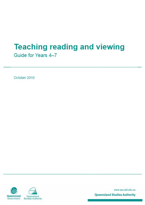 Teaching reading and viewing - Guide for Years 4-7