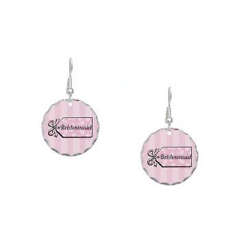 Bridesmaid Earrings in pink | Lesruba Weddings  #bridesmaids #jewelry
