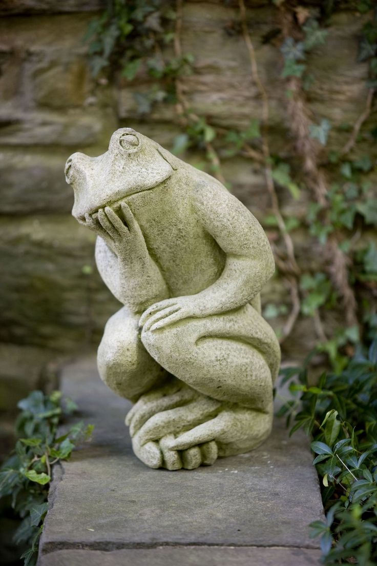 The Thinking Man's Frog Statue