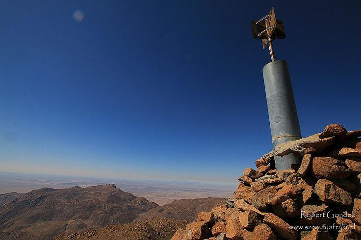 Namibia - Brandberg - Konigstein - Widok z Konigstein    www.szczytyafryki.pl    #Namibia #Konigstein #Brandberg