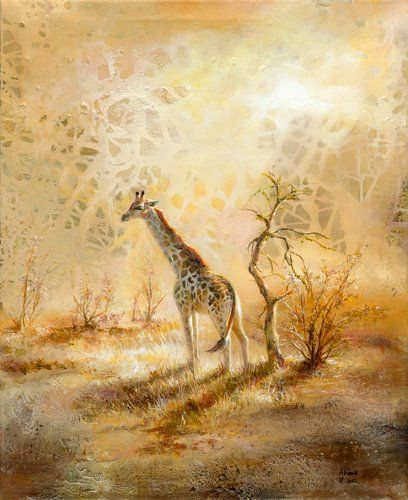 Akiane Kramarik, 'Vulnerable,' I loooove that the sky has the giraffe's spot pattern