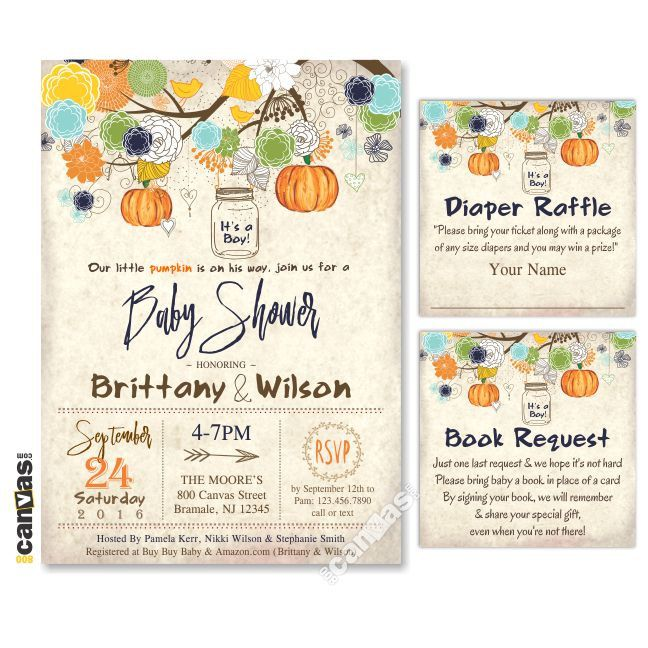 Halloween Baby Shower Invitation, Fall Baby Shower Invitations, Little  Pumpkin, Itu0027s A Boy