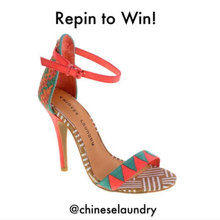 These are HOT, Win a free pair of shoes today only! To enter is easy: 1) Follow Chinese Laundry Shoes on Pinterest 2) Repin this pin. We will announce the winner on Pinterest tonight!