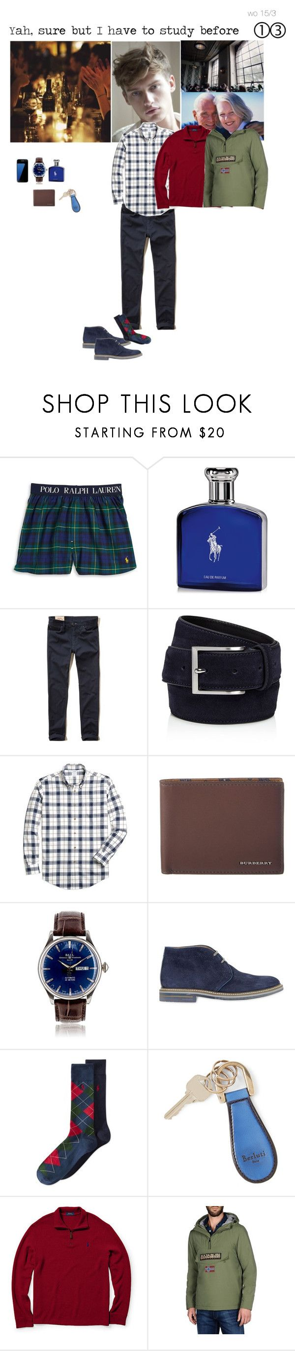 """""""Yah, sure but I have to study before"""" by adelaidesmitha ❤ liked on Polyvore featuring Polo Ralph Lauren, Ralph Lauren, Hollister Co., To Boot New York, Brooks Brothers, Burberry, Brimarts, Berluti, Samsung and Napapijri"""