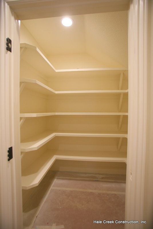 under stairs closet and shelving could apply to my kitchen space for a pantry