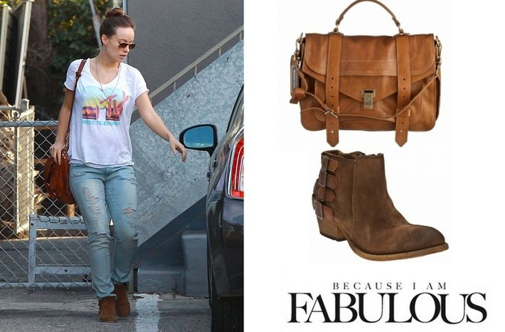 Shop Celebrity Closet: Olivia Wilde Proenza Schouler PS1 Bag & H By Hudson Encke Ankle Boot - http://www.becauseiamfabulous.com/2014/01/olivia-wilde-proenza-schouler-ps1-bag-h-by-hudson-encke-ankle-boot/