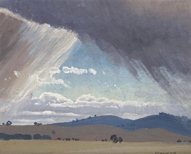 Storm Clouds, 1931. pinkpagodastudio: Elioth Gruner-- The Australian Landscape