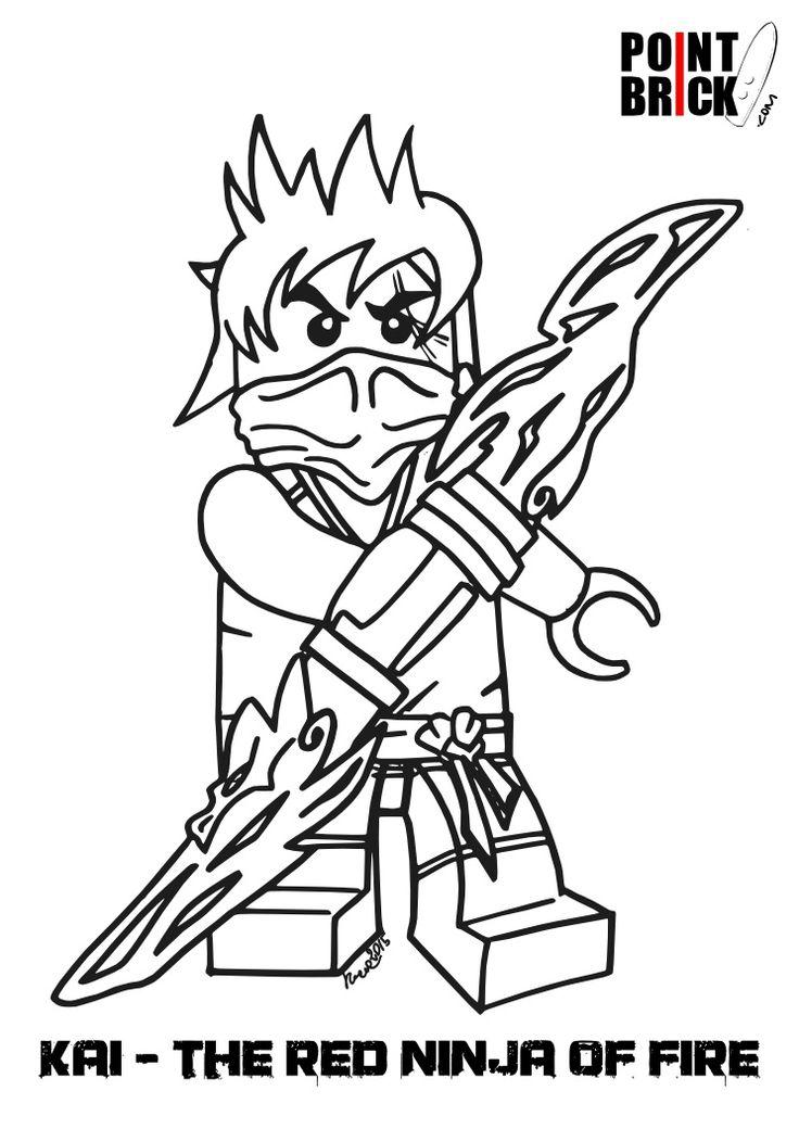 disegni da colorare  lego ninjago e friends
