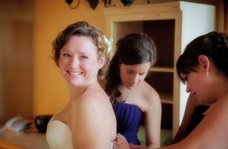Julie and Greg Summer 2014 @ Stoney Lake Inn, Stoney Lake, Ontario, Canada Makeup by Niki @Toronto Bridal Beauty Purple Bridesmaids Dresses