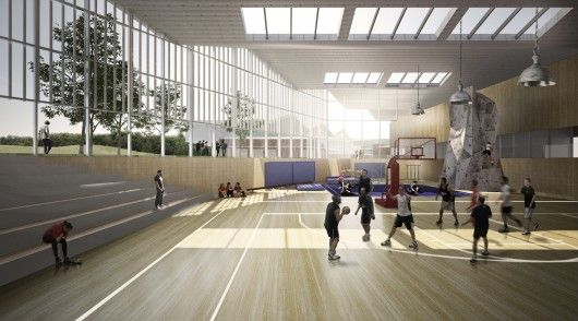 View of gymnasium. Image Courtesy of Inter National Design