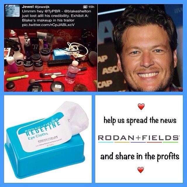 Blake Shelton knows Rodan + Fields is the best product for his skin! Men love R+F! Https://tchimienti.myrandf.com