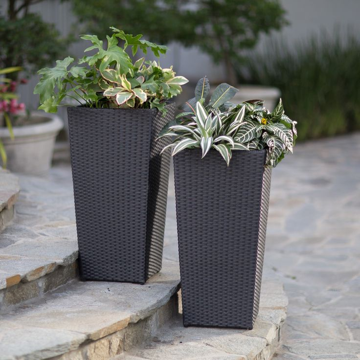 Belham Living Meridian All Weather Wicker Planter
