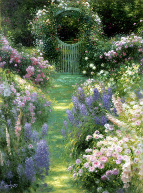 This is an oil painting? I thought this was a photo! 'Monet's Garden' 2009 by Greg Singley