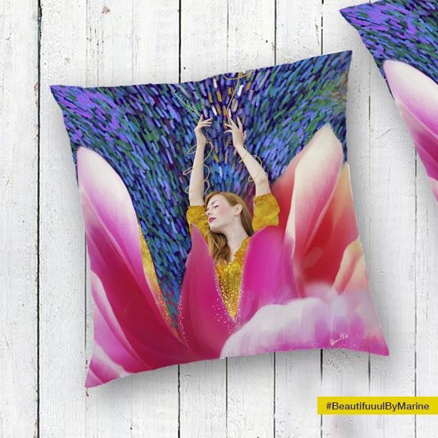 Sunshine Blossom Pillow cases created by @BeautifuuulByMarine Available here: http://rdbl.co/2mH78Vt