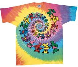 T-shirt Grateful Dead Youth Tye Dye Spiral Bears