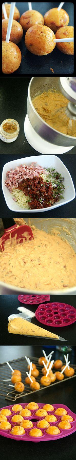 popcake lardons tomates séchées thym citron pour l'apéro