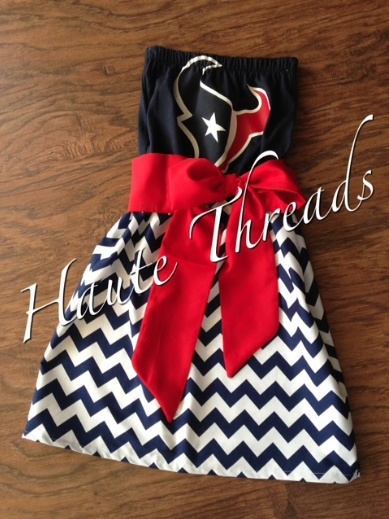 Haute Threads Boutique. I need this dress for Texans games this year!