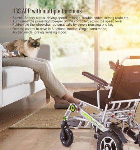 Airwheel H3S Smart Manual Wheelchair Is For The Old To For Cruise Around Their City