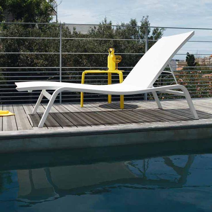 Bain de soleil empilable multi positions Acier/Toile TTE ALIZE XS #Fermob