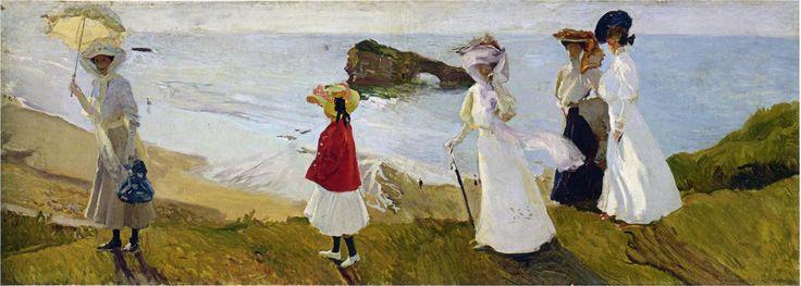 Lighthouse walk at Biarritz, 1906 Joaquin Sorolla - Obras de Arte Destacadas