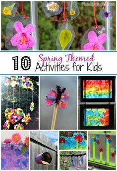 10 Easy Spring Crafts & Activities for Kids! Simple crafts and learning activities to do with preschoolers this spring and summer!