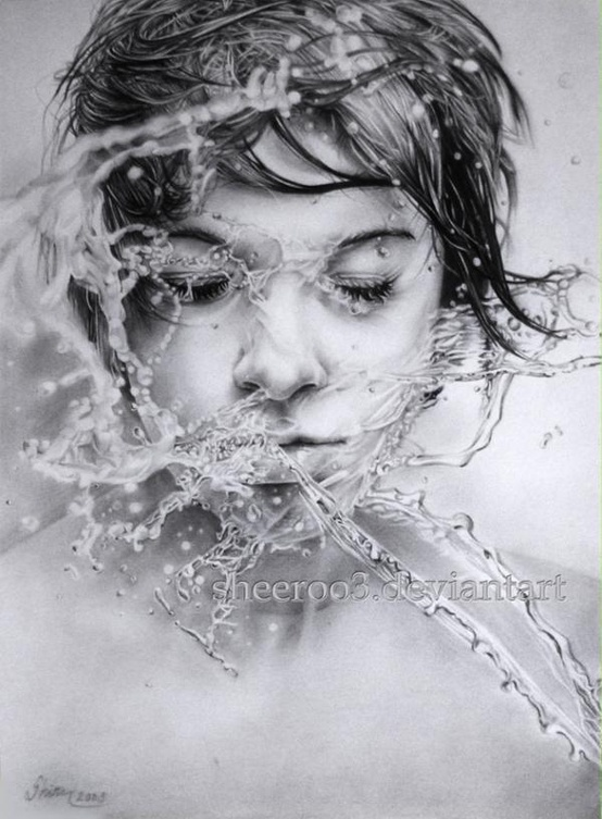Pencil Sketch By Russian Artist Olga Melamory